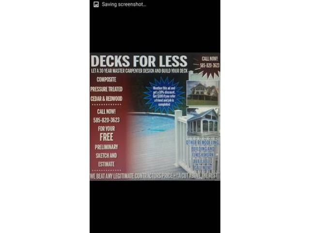 DECKS Rochester NY New York