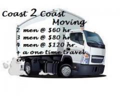 2 men @ $60 hr. / 3 men @ $80 hr. / 4 men @ $120 hr!